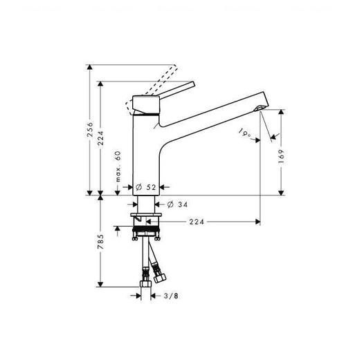 Смеситель для кухни Hansgrohe Talis S 32851000
