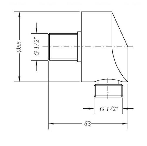 Шланговое подсоединение Genebre Tau 168004