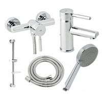 Набор смесителей для ванны и душа Genebre Tau 04TA1D17RO