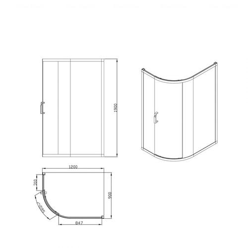 Душевые двери Devit Vintage FEN9027CR