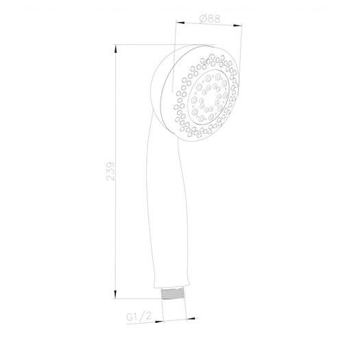 Ручной душ Imprese W088R5