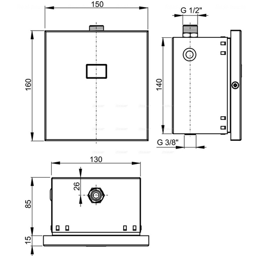 Автоматическое смывное устройство для писсуара Alca plast ASP4B, 6V