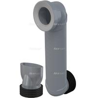 Колено стока для скрытых систем инсталляции Alca plast Slim
