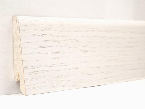 Плинтус деревянный шпонированный Ключук Евро Белый Белый