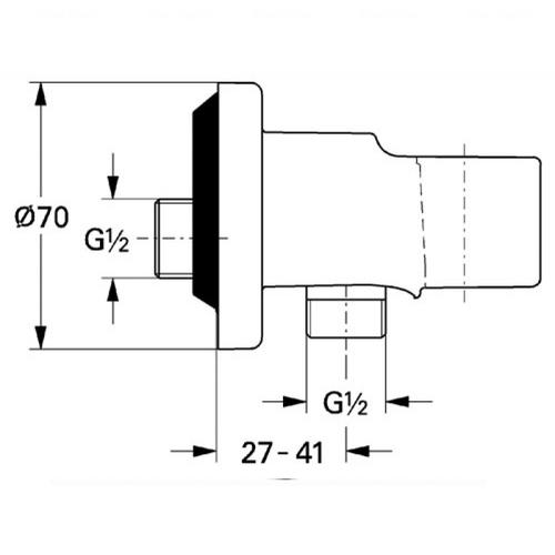 Подключение душевого шланга Grohe Relexa 28679000