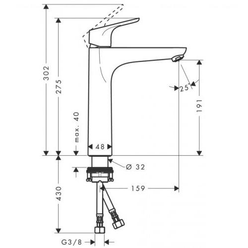 Смеситель для раковины Hansgrohe Focus E (31518000)