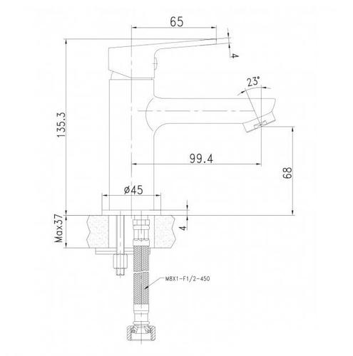 Смеситель для раковины Imprese Laska 05040 (25)