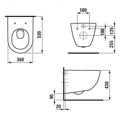 Унитаз подвесной Laufen Pro H8209560000001