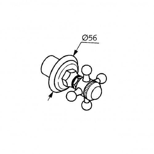 Вентиль для скрытого монтажа Kludi Adlon (хром)