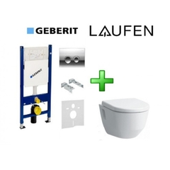 Комплект: унитаз Laufen Pro Rimless + инсталляция Geberit (458.121.21.1+820964+896951)