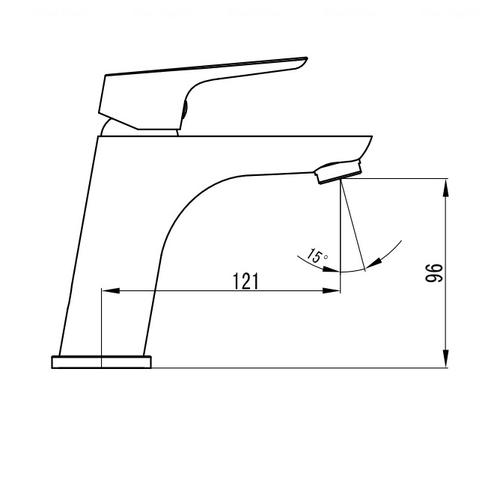 Смеситель для раковины Imprese Kucera 05105