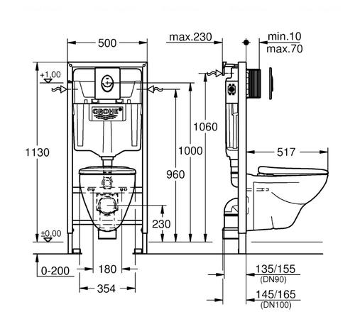 Комплект Grohe Solido Perfect 4в1 (39192000)