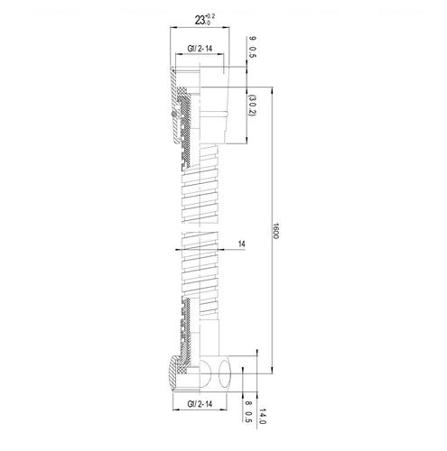 Душевой шланг Imprese 1600 мм (1116)