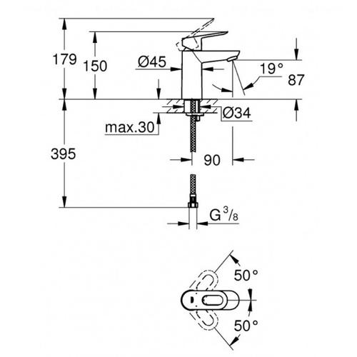 Набор смесителей Grohe BauLoop 123225K