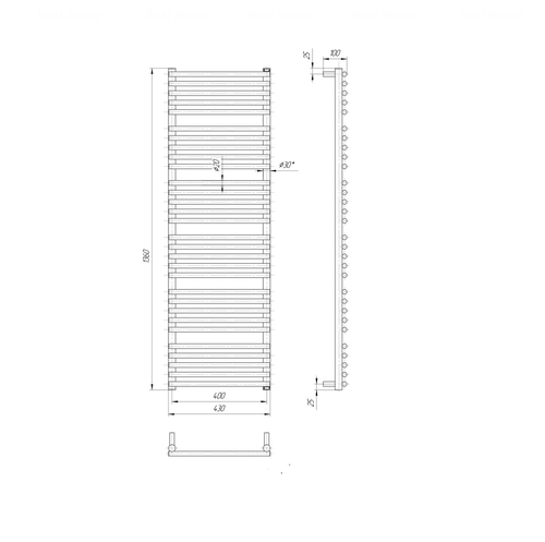 Полотенцесушитель Mario Премиум Турин 1360х430-400 хром хром