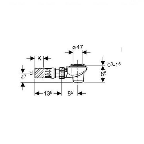 Сифон для душевого поддона Geberit Uniflex 50 мм (150.680.00.1)