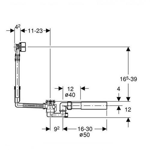 Слив-перелив для ванн Geberit d 52 мм (150.710.21.1)