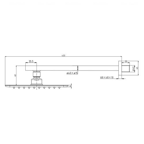 Верхний душ Imprese Breclav 300 мм (15245WS)