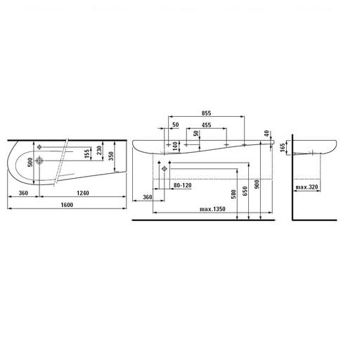 Умывальник Laufen Alessi One 160 (H8149714001041)