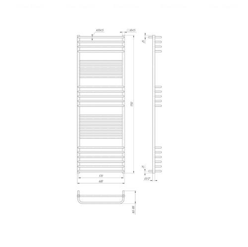 Полотенцесушитель Mario Гера Люкс 1750х600-570 хром хром