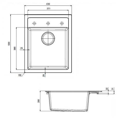 Кухонная мойка Franke Sirius Tectonite SID 610-40 черный черный