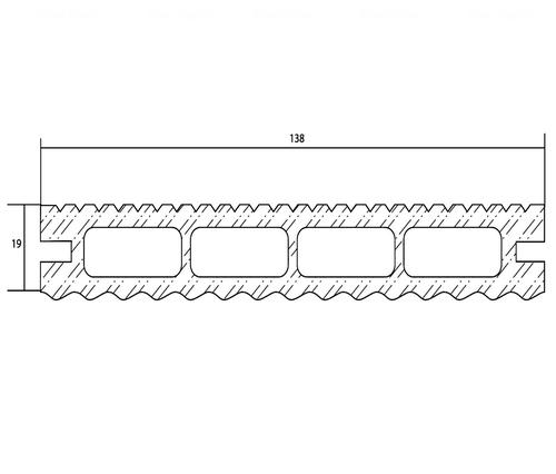 Террасная доска PolymerWood Lite Антрацит 2200х138х19 мм