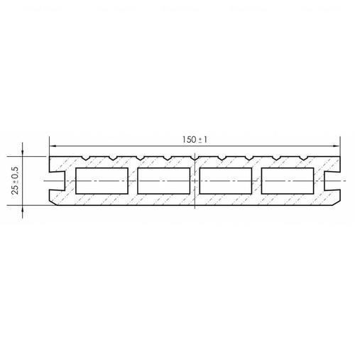 Террасная доска Porch Intense Eben 3D 3000х150х24 мм