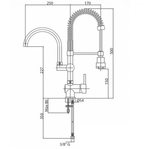 Смеситель для кухни Bianchi Style (LVMSTY20150ACRM)