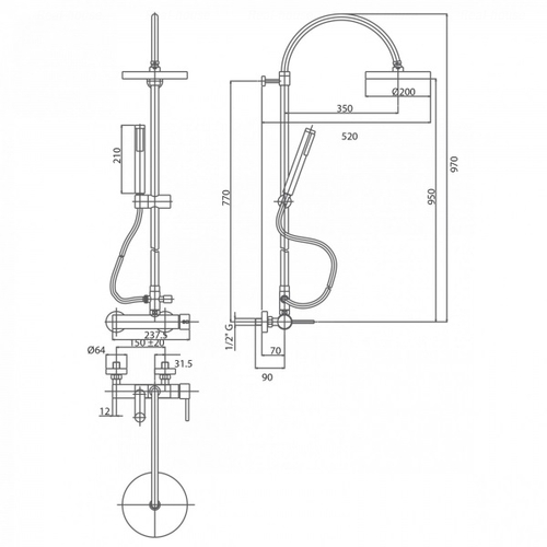 Душевая система Bianchi Style (ESDSTY202500CRM)