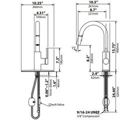 Смеситель для кухни Kraus KPF-2620