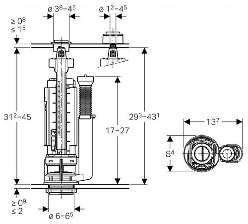 Сливной клапан Geberit Impuls Type 290 (282.303.21.2)