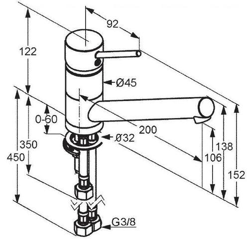 Смеситель для кухни Kludi Scope с байонетным креплением (339380575)