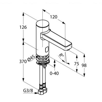 Электронный смеситель для раковины Kludi Zenta E 230V