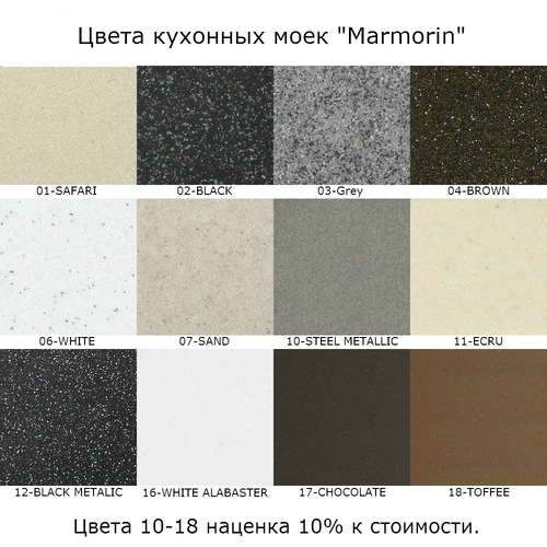 Мойка Marmorin Halit 1k 0,5o