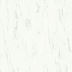 Виниловая плитка Quick-Step Ambient Glue Plus Белый каррарский мрамор AMGP40136