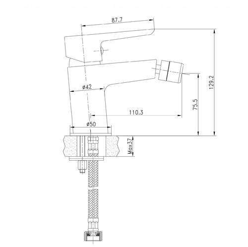 Смеситель для биде Imprese Breclav 40245 хром хром