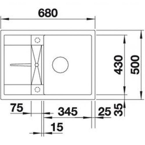Кухонная мойка Blanco Metra 45S Compact жасмин жасмин