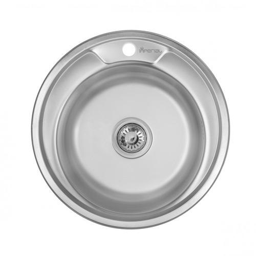 Кухонная мойка Imperial 490-A, 0.6 мм Satin 16147 Satin 16147