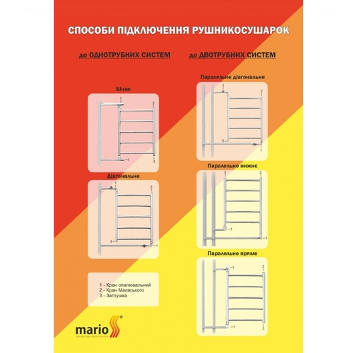 Полотенцесушитель Mario Стандарт НР 650х430-400 хром хром