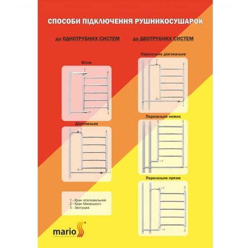 Полотенцесушитель Mario Стандарт НР 800х530-500 хром хром