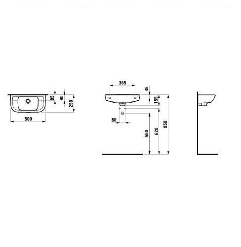 Умывальник Laufen Pro B 50 (H8169570001061)