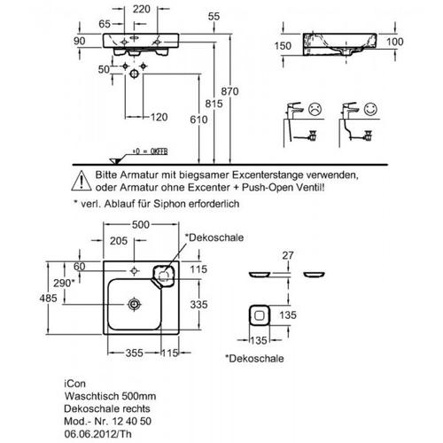 Умывальник Keramag iCon 500 мм 124050