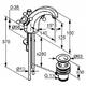 Смеситель для раковины Kludi Adlon 125 хром хром