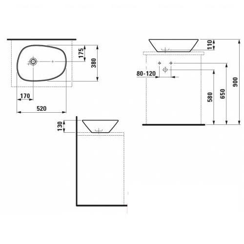 Умывальник Laufen Palace 52 (H8168024001121)