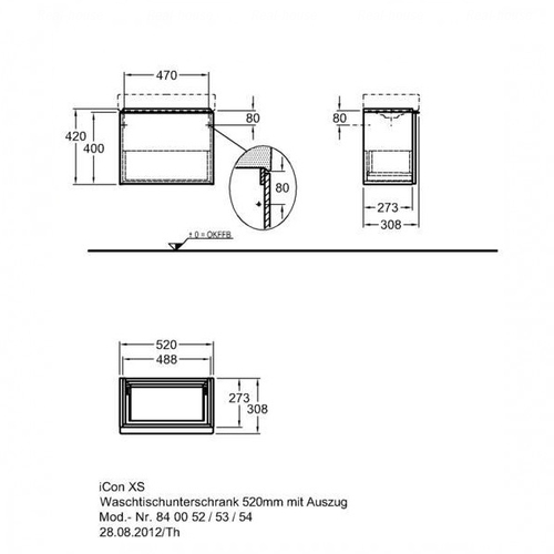 Тумба Keramag iCon xs 520 мм œƒальпийский глянец œƒальпийский глянец