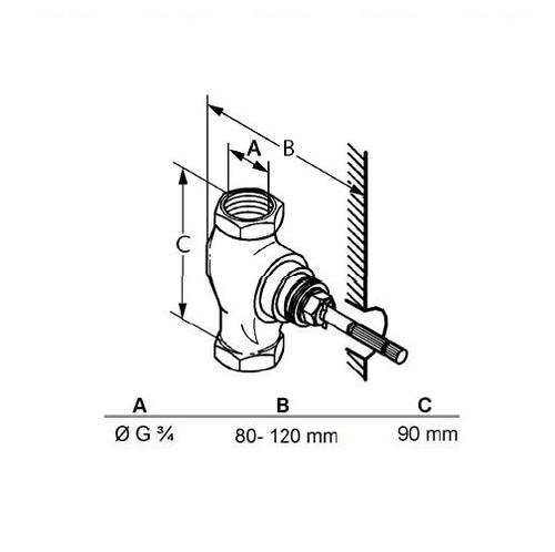Вентиль скрытого монтажа DN 20 Kludi Ambienta 53811