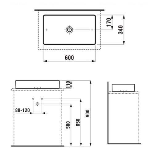 Умывальник Laufen Living Square 60 (H8114340001121)