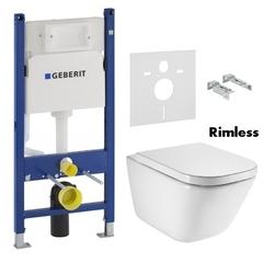 Унитаз Roca GAP Rimless + инсталляция Geberit Duofix (A34H47C000+458.126.00.1)