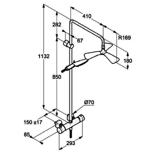 Душевая система Kludi Fizz Dual Shower System 6709605-00