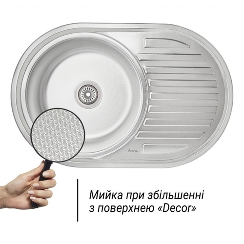 Кухонная мойка Imperial 7750, 0.6 мм Decor Decor